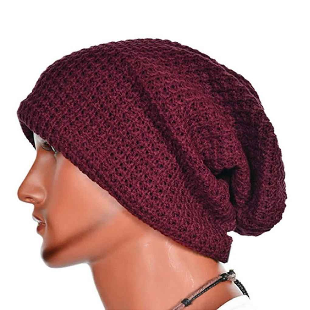 Bobury Oversized Men Knit Beanie Hat Baggy Long Slouchy Winter Warm Skull Cap