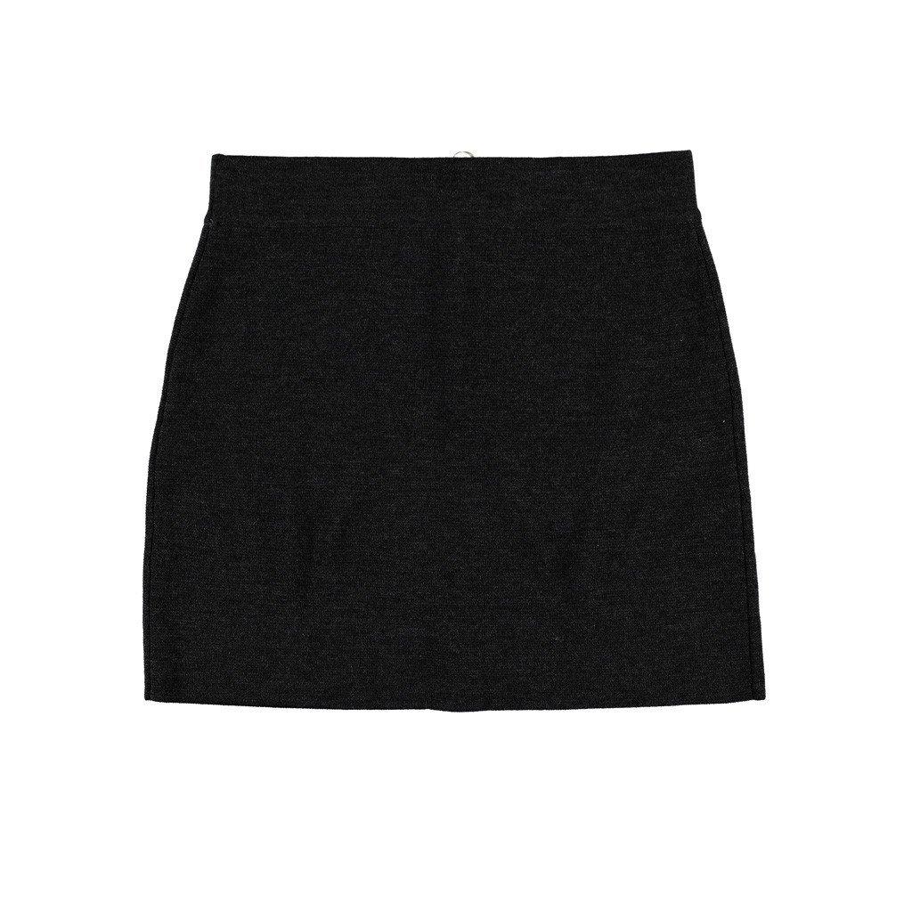 Krimson Klover Nelson Mini Skirt made of Ultrafine Merino - ( Charcoal, X-Large )