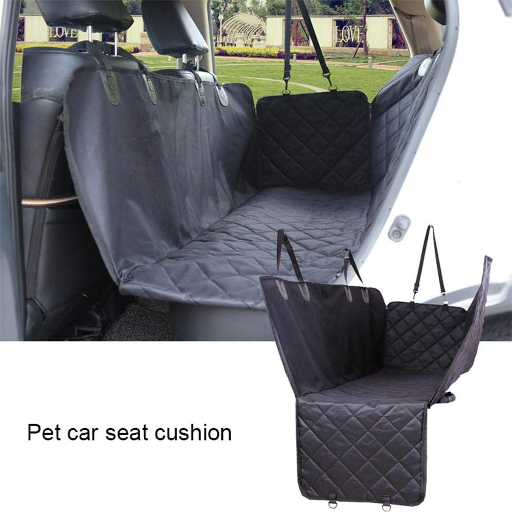 Black Dog Seat Cover Car Seat Cover for Pets, Nonslip Waterproof Scratch Proof Backing Padded, Durable Pet Mat for Fits Most Cars, Trucks, SUV