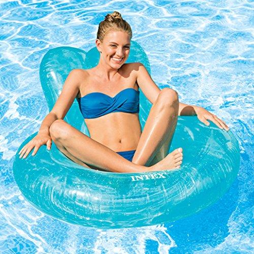 Intex transparent color inflatable lounge 53 x 45 home for Intex gartenpool