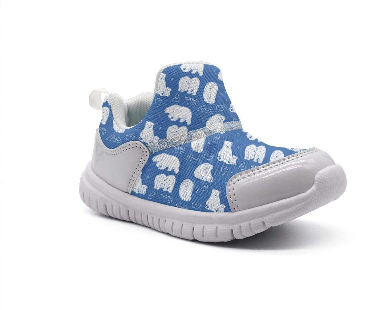 ONEYUAN Children Polar Bear Live Blue Kid Casual Lightweight Sport Shoes Sneakers Walking Athletic Shoes