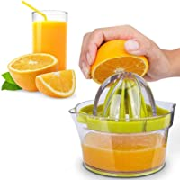 CShopping Citrus Juicer, Orange Lemon Manual Hand Squeezer with Built-in Garlic Grater, Measuring Cup, Multi-Reamers for Filter Egg White, Multifunctional Kitchen Tool