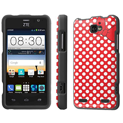 Disney Duos (Mobiflare, Slim Guard Armor Phone Case, for [ZTE Sonata 2 Z753G Zehyr Z752C Paragon] - Red/White Polk-a-Dots with)
