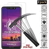 ANEWSIR [2 Pezzi Vetro temperato per Motorola One (P30 Play), Motorola One Pellicole Protettive per Moto One Vetro Temperato Screen Protector [9H Durezza] [HD Alta Trasparenza] [Garanzia a Vita]