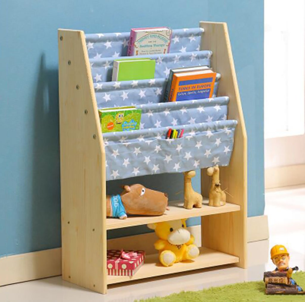 Cdbl Wand Bücherregal Kinderregal Zeitschriftenständer Bilderrahmen aus massivem Holz Bücherregal Bücherregal Kinderzimmer Regal Baby Bücherregal Regal (Farbe   C) B