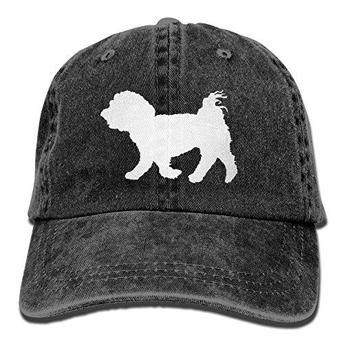 - Unisex Baseball Cap Yarn-Dyed Denim Hat Maltese Dog Silhouette Adjustable Snapback Hunting Cap
