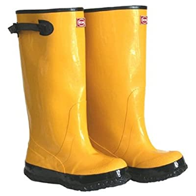 "BOSS 2KP448115 Rubber Boot, 17"" Size 15, Yellow: Industrial & Scientific"