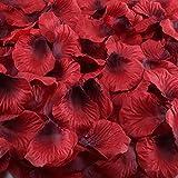 Artificial Flowers,Hogado 2000 Pcs Dark Red Silk Rose Petals Bulk Wedding Bridal Shower Home Hotel Party Anniversary Decor