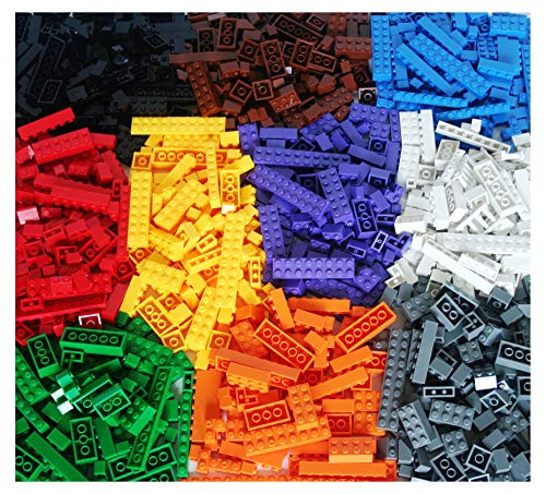 Dreambuildertoy building bricks 1040 pieces set, 1000 basic building blocks in 10 popular colors,40 bonus fun shapes includes wheels, doors, Windows, compatible to all major brands -