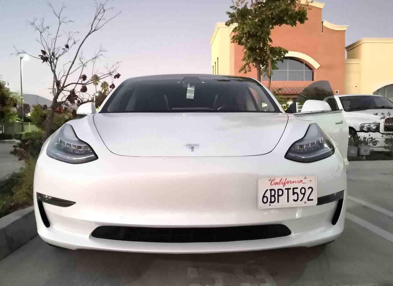 For Tesla Model 3 2017-2020 Bumper Tow Hook License Plate Bracket Mount Holder