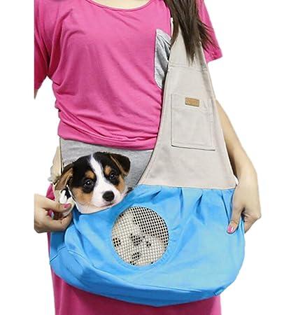 Ylen Pequeño Perro Gato Mascotas Portador de Viaje Transporte Lona Bolsa de Hombro para Perrito Gatito