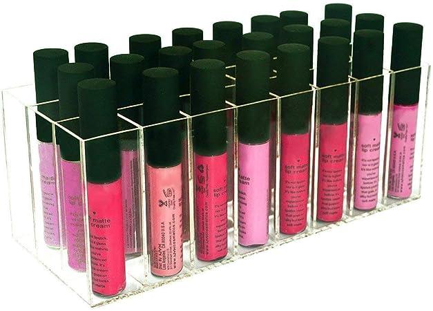 XCSSKG - Estuche para pintalabios de acrílico sin Polvo y Brillante, Organizador de Maquillaje, Maquillaje y cosméticos (Proporciona 24 Espacios de Almacenamiento): Amazon.es: Hogar