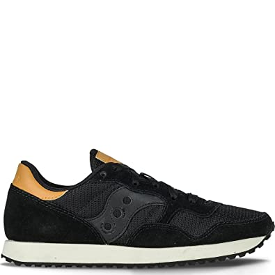 Saucony exclusive jazz o suede trainers in black mujer