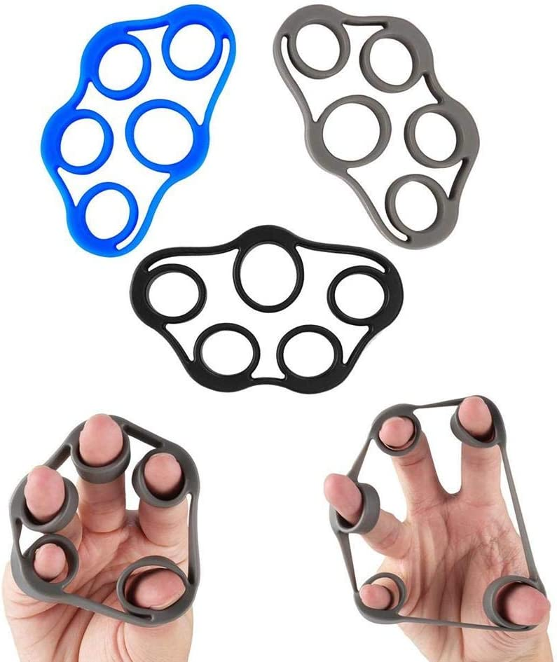 rosemaryrose 3pack Finger Stretcher /& Hand Resistance Bands Finger Extensor Exerciser Grip Strength Strengthener Trainer for Arthritis Carpal Relieve Wrist Pain,Forearm Exercise