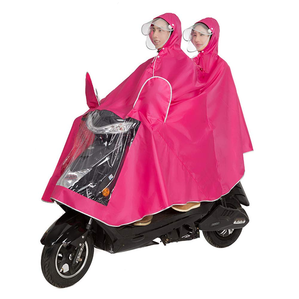 Roller Poncho Regenmantel Schal Wasserdichter Regenponcho Ebike QARYYQ Fahrradjacke Unisex Tandem Fahrrad Farbe : Blau, gr/ö/ße : XXXL Motorrad