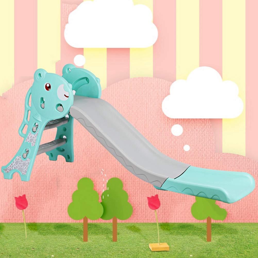 S/ûre et Confortable Conception Ergonomique GOTOTO Toboggan pour Enfant Toboggan Pliable de Jeu dExt/érieur et /à lInt/érieur pour Maison Jardin avec Allonger Zone Tampon
