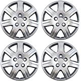 OxGord 16 inch Hubcaps Best for 06-11 Honda Civic - (Set of 4) Wheel Covers 16in Hub Caps Silver Rim Cover - Car Accessories