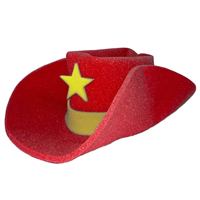 Amazon.com  Jacobson Hat Company Giant Red Foam Cowboy Western Novelty Hat   Clothing a20fcc3a9f0