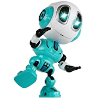SOKY Talking Robot for Kids Repeats What You Say with Flexible Body Flashing Eyes