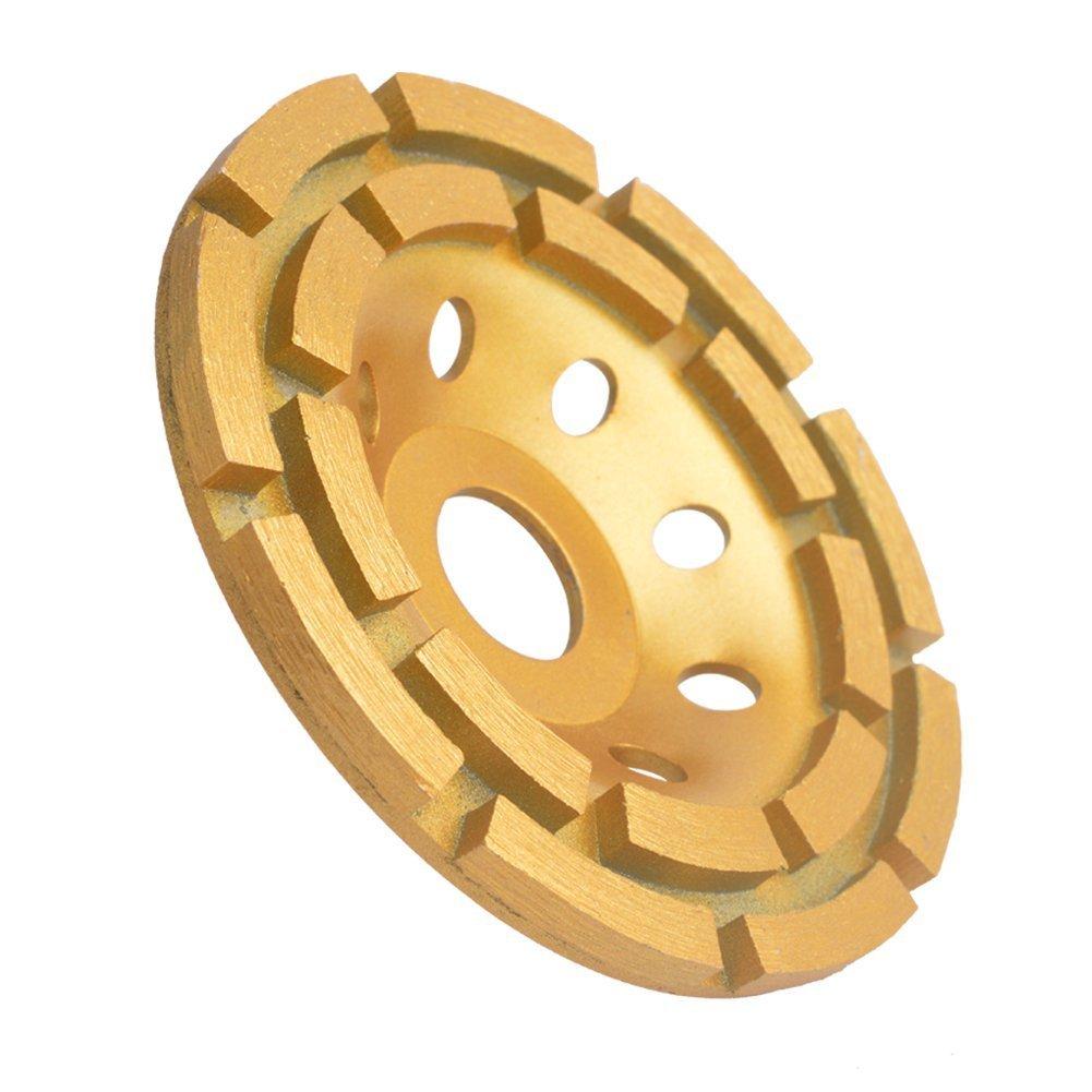 Gunpla 4-1/2-Inch Double-Row Diamond-Cup Grinding-Wheel for Concrete, Granite,Stone, Marble etc by Gunpla