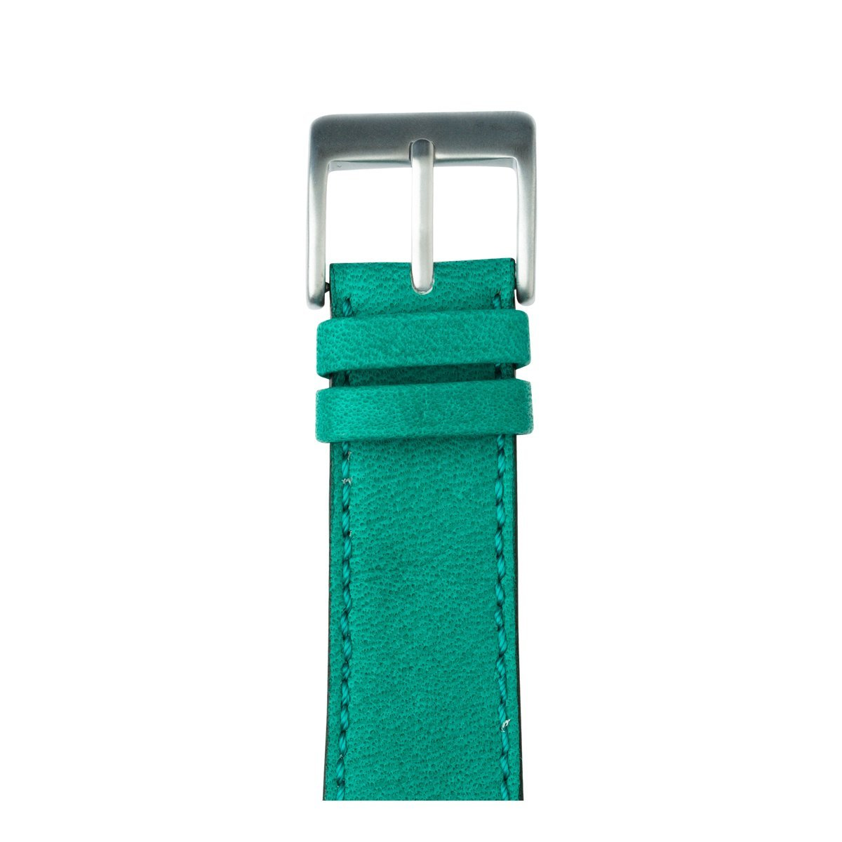 Roobaya Premium Sauvage Leather Apple Watch Band in Turquoise | Includes Adapters matching the Color of the Apple Watch, Case Color Silver Aluminum, Size:38 mm