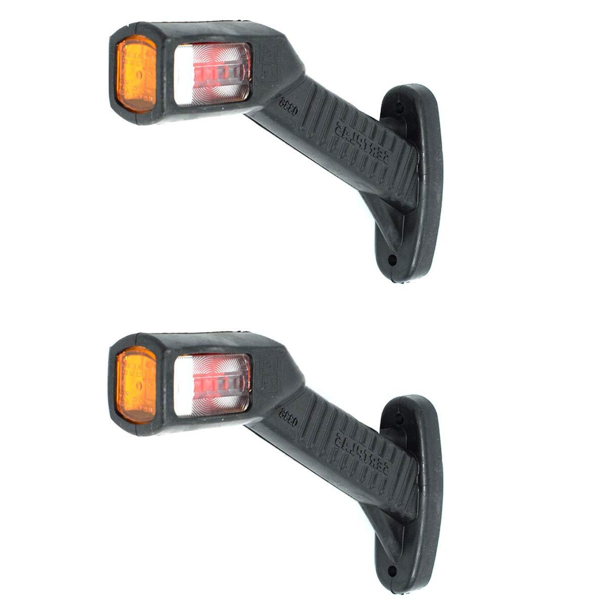 10x 4 LED Seitenmarkierungsleuchten Seitenleuchte Anhänger Begrenzungsleuchten