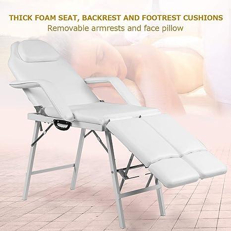 Amazon.com: Mesa de masaje portátil para tatuajes de 7.0 in ...