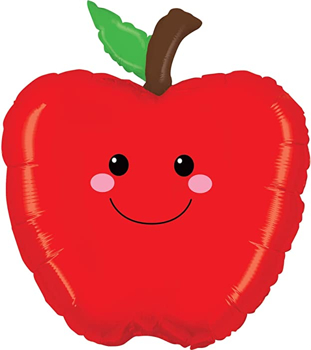 Betallic ONE 26&quot RED APPLE NEW BALLOON PARTY CIDER FOIL PRODUCE PALS FARMER'S MARKET VEGGIE FARM STAND, Multicolor