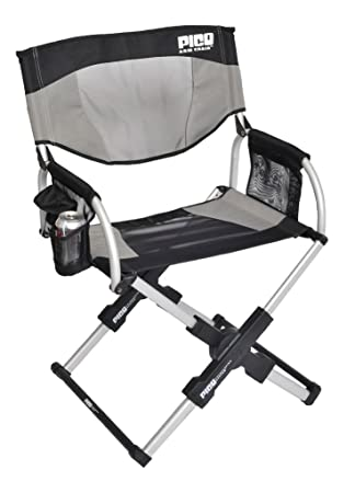 Amazon.com : Set Of 2   PICO ARM CHAIR Telescoping Directoru0027s Chair :  Camping Stools : Sports U0026 Outdoors