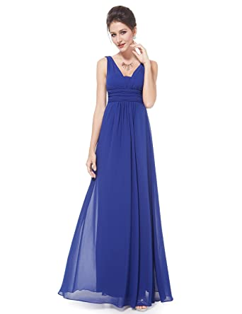 8d109bf2a Ever Pretty Vestido para mujer largo 08110 azul Azul Zafiro 44  Amazon.es   Ropa y accesorios
