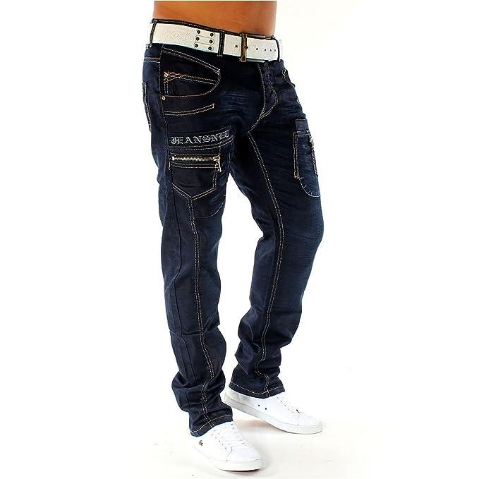 Pantalones vaqueros Para hombre Marsways ID1092 recta ajuste ...