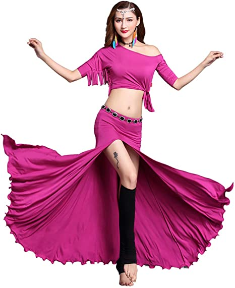 TANGF - Disfraz de Baile del Vientre Bollywood, Vestido de Baile ...