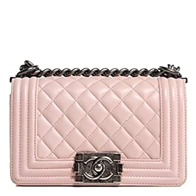 c8eadaee942b9f New Chanel Light Pink Lambskin Quilted Small Boy Flap Bag: Amazon.co.uk:  Shoes & Bags