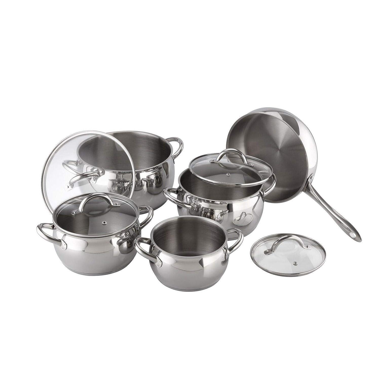TNPSHOP Kuchen Stainless Steel 9-piece Cookware Set