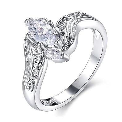 De la Mujer Retro anillos infinito Marquise corte CZ Vintage ...