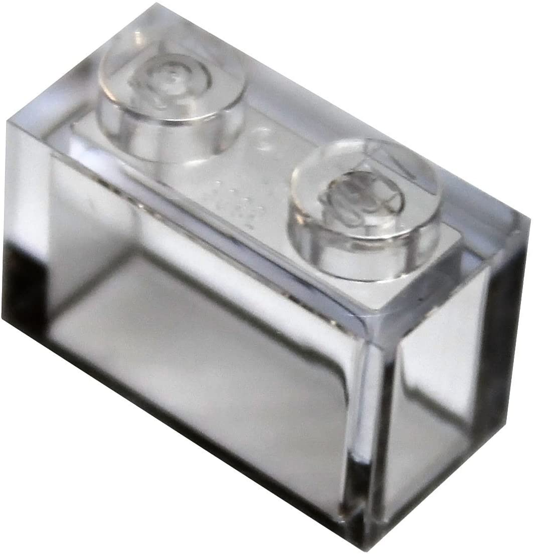 LEGO Parts and Pieces: Trans-Clear (Transparent Clear) 1x2 Brick x50