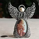 "Angel Picture Frame - Ehonestbuy Retro Alloy Christmas Tree Ornament Desktop Frame Decoration for Photo Display 2""x3"" (Silver)"