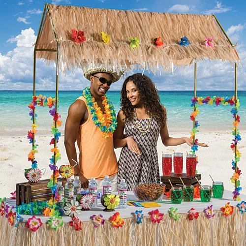 Tabletop Tiki Hut 55 Inches X 22 Inches X 56 - Online Hut