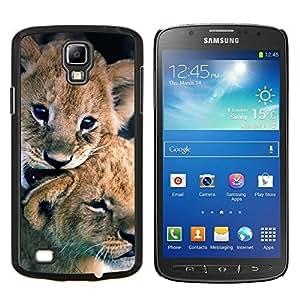 EJOOY---Cubierta de la caja de protección para la piel dura ** Samsung Galaxy S4 Active i9295 ** --cachorro de león cachorro pieles naturaleza animal del bebé