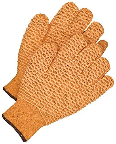 Bob Dale Gloves 99176XL Seamless Knit Poly-Cotton Orange Pvc Criss-Cross Pattern,