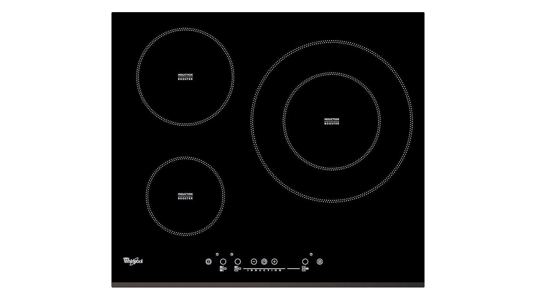 Whirlpool - Placa de inducción acm334/bf con 3 zonas de cocción ...