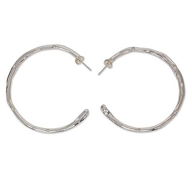 e7b97d1b2 Amazon.com: NOVICA Crystal Beads .925 Sterling Silver Glass Half ...