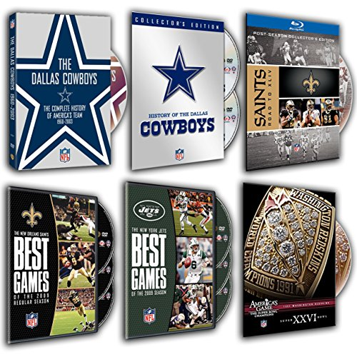 NFL New Orleans Saints: Road to Super Bowl XLIV, America's Game: 1991 REDSKINS XXVI), History of the Dallas Cowboys, Best Games of the 2009, New York Jets, The Dallas Cowboys History (6 DVDs Pack)