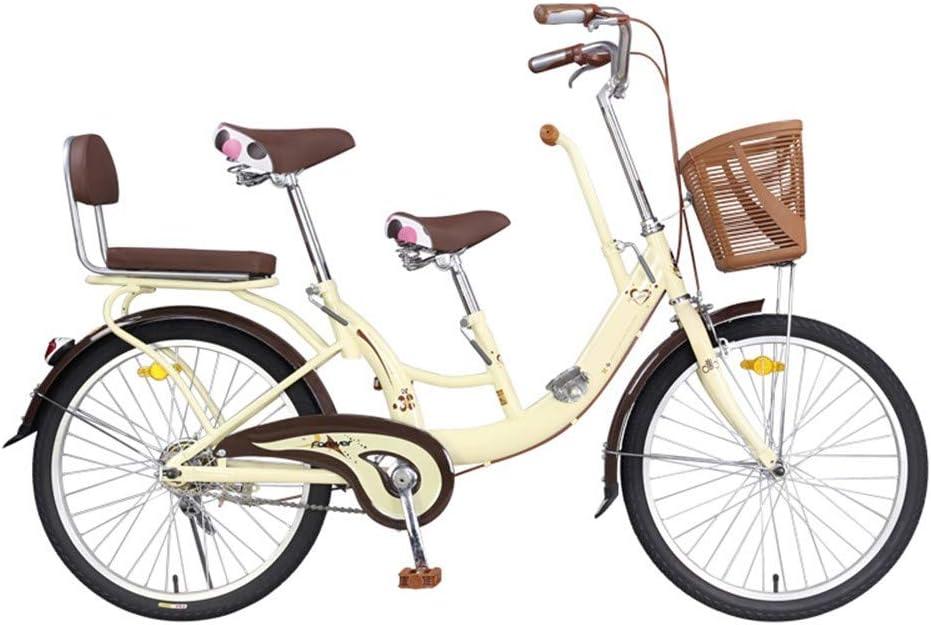 S.N S Bicicleta Padre-Hijo Coche Madre e Hijo Pueden traer al bebé Niño Doble Recogida Niño Niño Bicicleta Padre-Niño