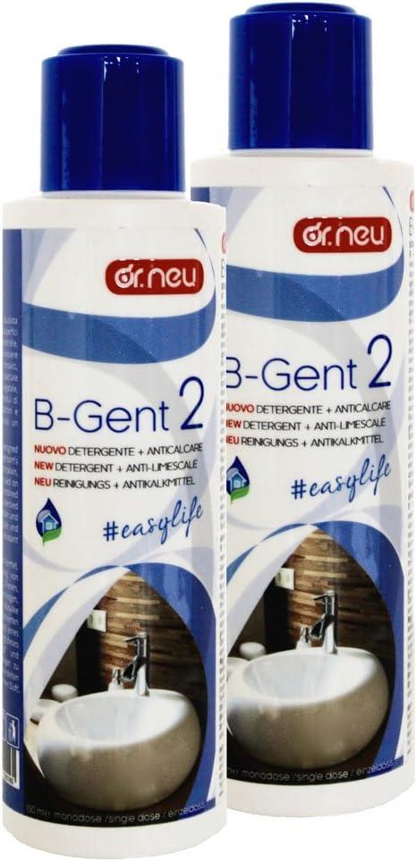 Dr.Neu B-Gent2 - Limpiador concentrado y antical profesional para el baño con enzimas naturales, apto también para mármol y piedra (2 unidades): Amazon.es: Hogar
