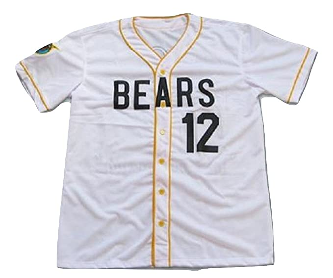 online store 1e2f6 e61e8 borizcustoms Chico's Bail Bonds Bears Jersey Stitch Shirt Baseball Patch  Sewn #12 Size