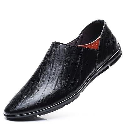 LEDLFIE Lederschuhe Herren Driving Slip Bean on Bean Slip Schuhe Lässig ... b4d6f5