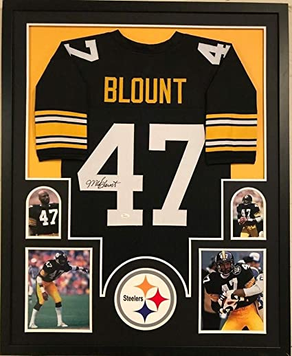 new styles ba4b0 90f23 Framed Mel Blount Autographed Signed Pittsburgh Steelers ...