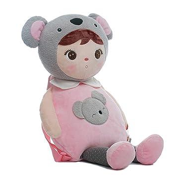 Buena noche adorable Angela de peluche muñecas de peluche al aire libre mochila para niños,