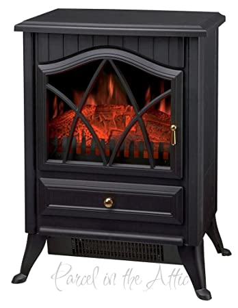 new wood burner log effect electric fire free standing portable